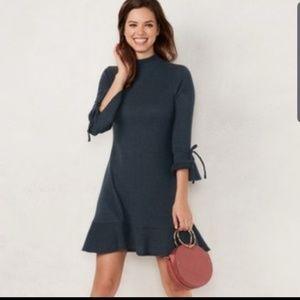 Lauren Conrad Mock Neck Flounce Hem Sweater Dress
